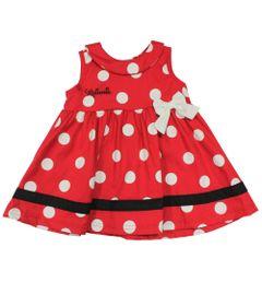 Vestido-Regata-com-Poa---Vermelho-Preto-e-Branco---Minnie---Disney---G