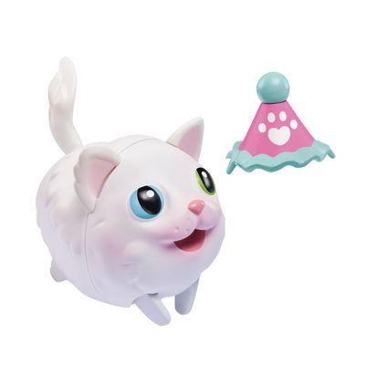 Figura Articulada Com Acessório - 15 cm - Au Au Pets e Amigos - Gato Branco - Multikids