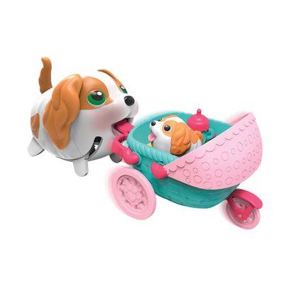 Conjunto Figuras Com Veículo - 12 cm - Pet e Filhote - Au Au Pets - Multikids