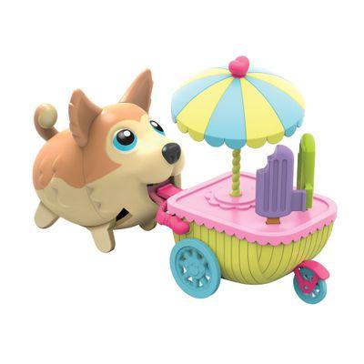 Conjunto Figura Com Veículo - 12 cm - Pet e Carrinho de Sorvete - Au Au Pets - Multikids