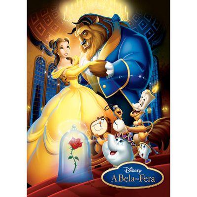 Quebra-Cabeça - 100 peças - Disney - A Bela e a Fera - Grow