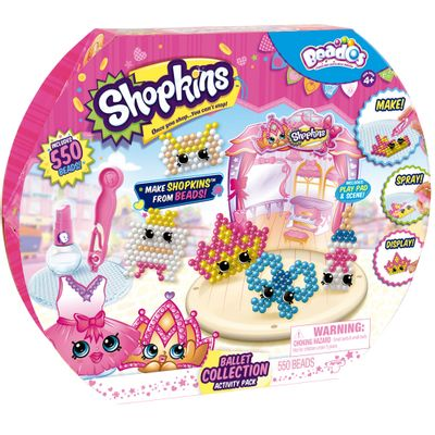 Conjunto de Artes - Beados Shopkins - Balet Collection - Multikids