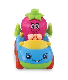 Mini-Veiculo---Carrinho-Hora-de-Brincar---Frutas-Divertidas---Morango---Dican