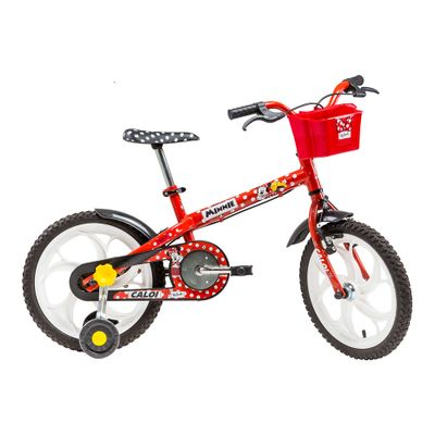 Bicicleta Aro 16 - Minnie - Disney - Vermelho - Caloi