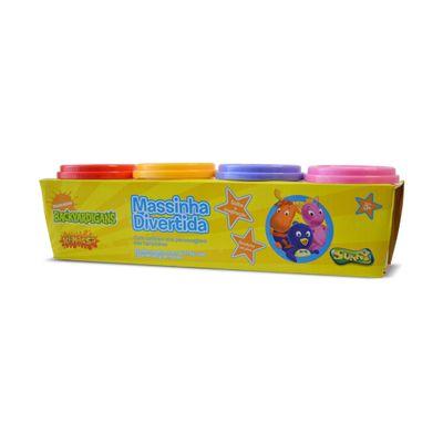 Massa de Modelar - 4 Potes - Backyardigans -  Vermelho, Amarelo, Lilás e Rosa - Sunny