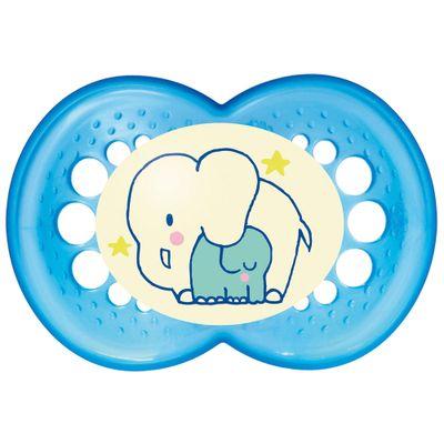 Chupeta Night Silk Touch Boys - Acima de 6 Meses - Elefantes - MAM