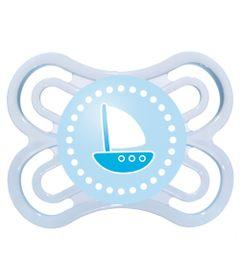 Chupeta-Perfect-Silicone---Fase-1---Azul---Barco---MAM