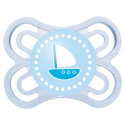 Chupeta Perfect Silicone - Fase 1 - Azul - Barco - MAM