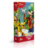 Quebra-Cabeca-Mini---60-Pecas---Disney---A-Casa-do-Mickey-Mouse---Pateta-e-Pluto---Toyster