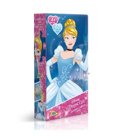 Quebra-Cabeca-Mini---60-Pecas---Disney---Princesas-Disney---Cinderela---Toyster
