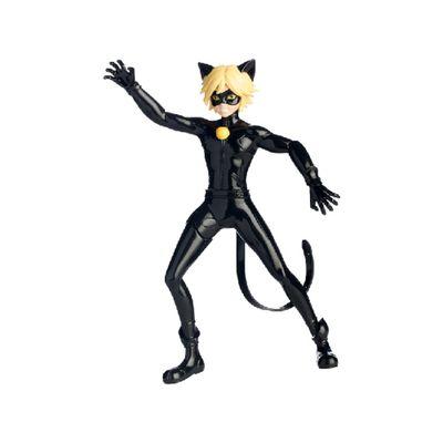 Figura Articulada que Gira - 20 cm - Miraculous As Aventuras de Ladybug - Cat Noir - Sunny