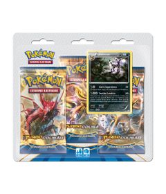Deck-Pokemon---Blister-com-3-Unidades---Pokemon-Turbo-Colisao---Umbreon---Copag-97344-frente