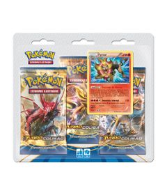 Deck-Pokemon---Blister-com-3-Unidades---Pokemon-Turbo-Colisao---Pyroar---Copag-97344-frente