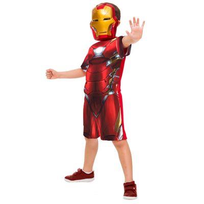 Fantasia Infantil Curta - Iron Man - Avengers - Marvel - Disney - Rubies - P