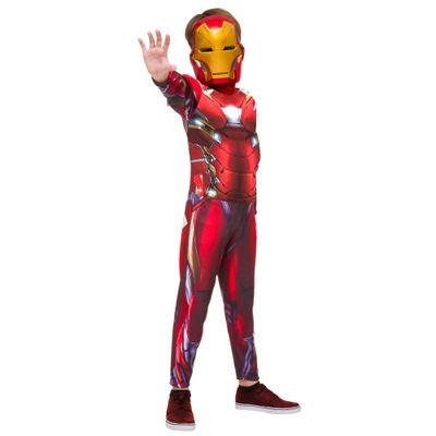 Fantasia Infantil Longo - Iron Man - Avengers - Marvel - Disney - Rubies - P