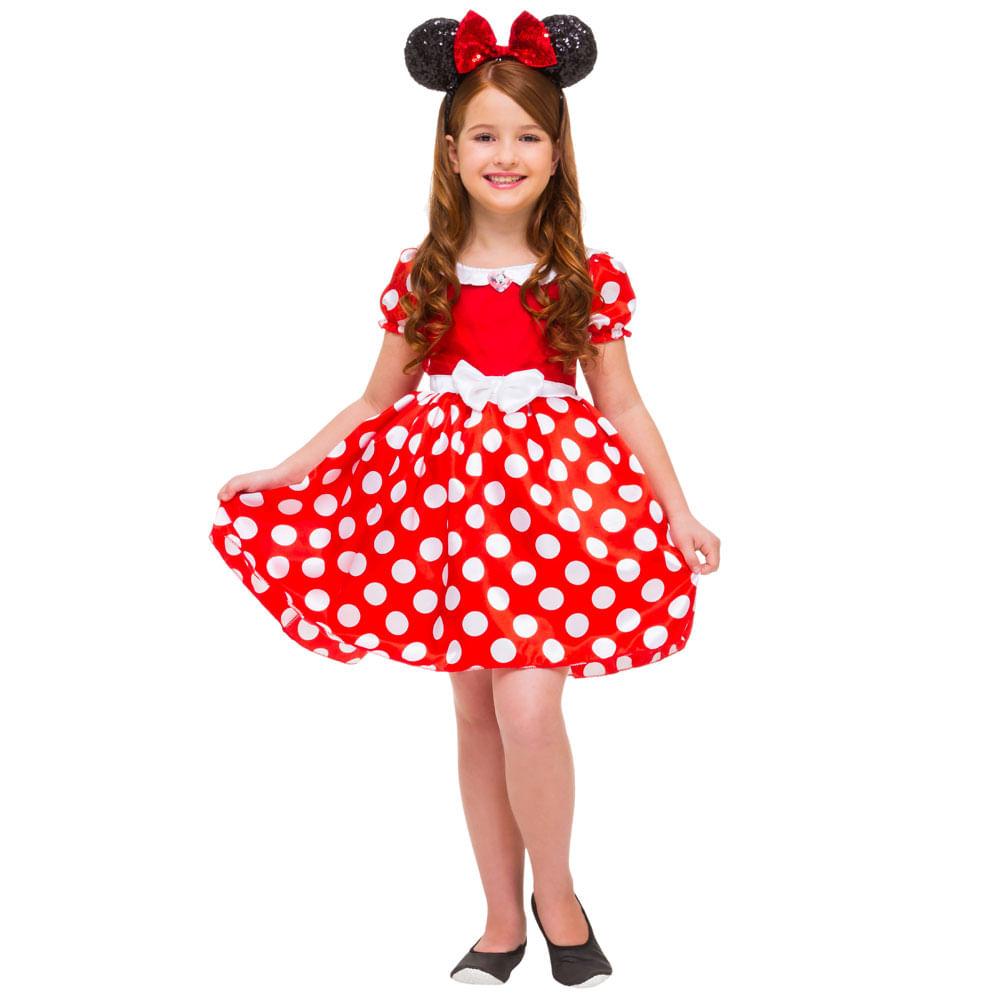Fantasia Infantil Luxo - Minnie - Disney - Rubies - M Fantasia Infantil Luxo - Minnie - Disney - Rubies - G