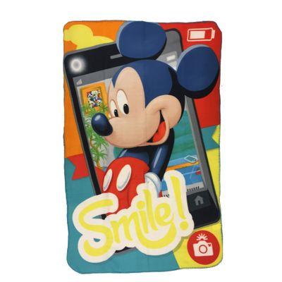 Manta Estampada em Poliéster - 100 x 150 CM - Disney - Mickey Mouse - DTC