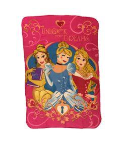 Manta-Estampada-em-Poliester---100-x-150-CM---Disney---Princesas-Disney---DTC