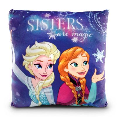Almofada Estampada 30x30 Cm - Disney - Frozen - Elsa e Anna - DTC