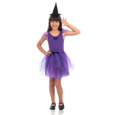 Fantasia-Infantil---Dress-Up---Bruxa-Roxa-com-Chapeu---Sulamericana---G