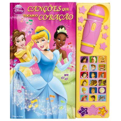 Livro e Microfone - Disney Princesas - Corações que Tocam o Coração - DCL