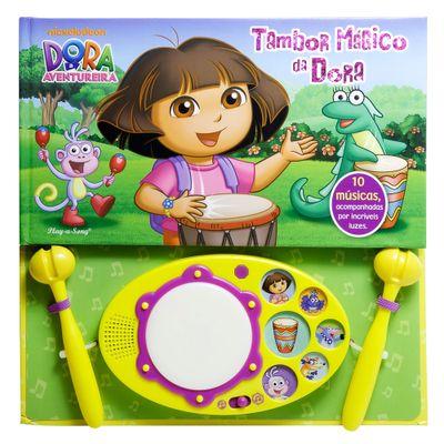Livro e Tambor Mágico Disney - Dora a Aventureira - DCL