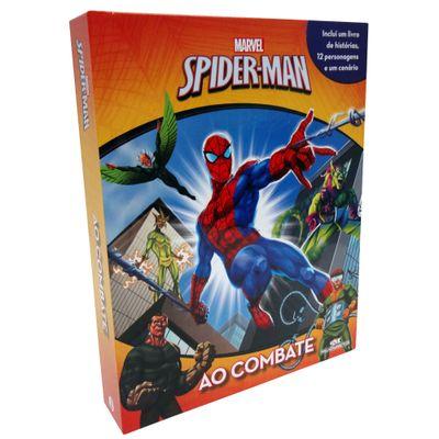 Livro Disney e Miniaturas - Ao Combate - Marvel - Spider-Man - Melhoramentos