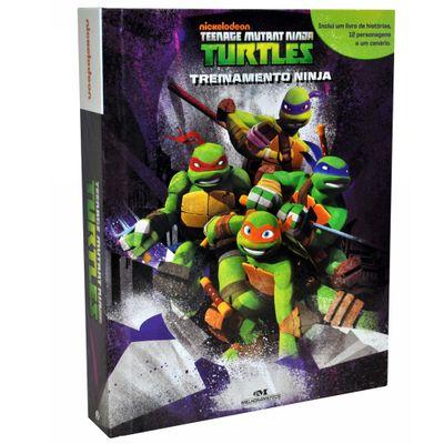 Livro e Miniaturas - As Tartarugas Ninja - Treinamento Ninja - Melhoramentos