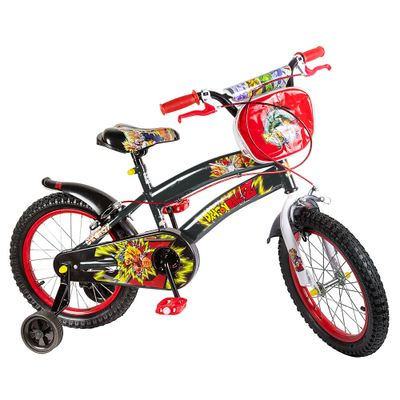 Bicicleta ARO 16 - Dragon Ball Z - Preta - Uni Toys