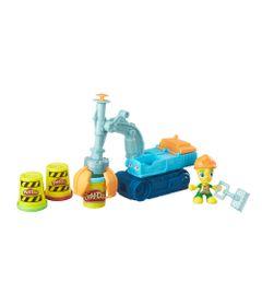 Conjunto-Massa-de-Modelar---Figura-e-Veiculo---Play-Doh-Town---Escavadeira---Hasbro-B6283-frente