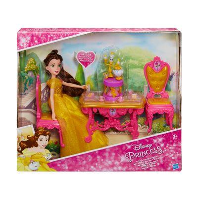 Boneca Princesas Disney - Cenário da Bela - A Bela e a Fera - Hasbro