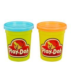 Massa-de-Modelar---Retro---Play-Doh---Pack-com-2-Potes---Turquesa-e-Laranja---Hasbro-B8926-frente