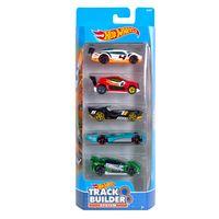 Carrinhos-Hot-Wheels---Pacote-com-5-Carros---Track-Builder-System---Mattel