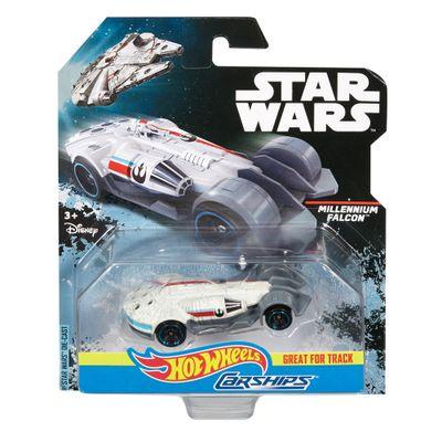 carro-nave-star-wars-milllenium-falcon-hot-wheel-branco-mattel-disney