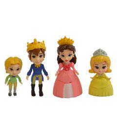 Conjunto-com-4-Bonecas---7-CM---Disney---Princesinha-Sofia---Familia-Real---Sunny