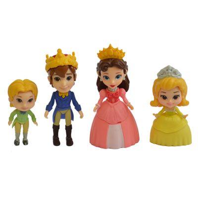 Conjunto com 4 Bonecas - 7 CM - Disney - Princesinha Sofia - Família Real - Sunny