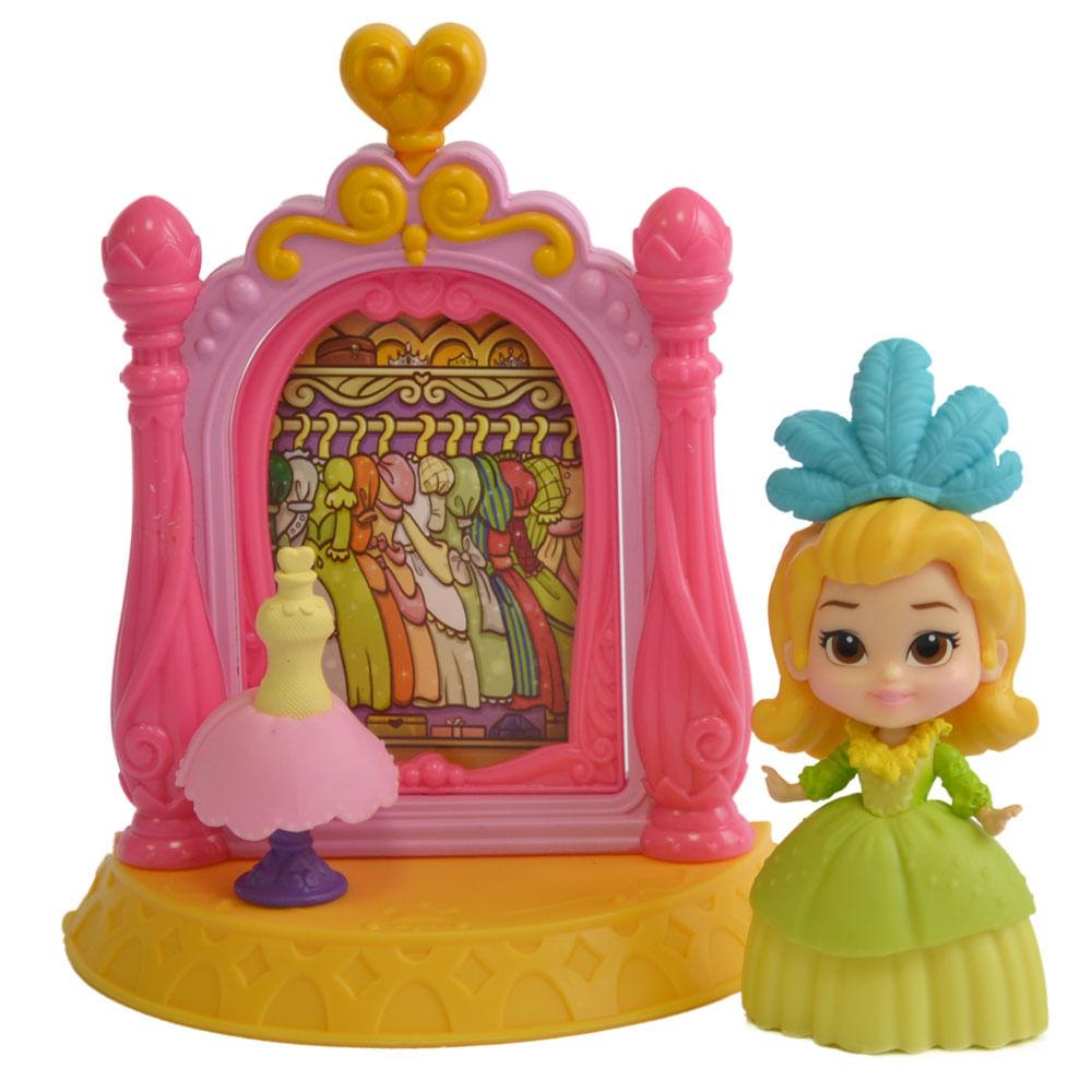 Playset e Boneca - 7 cm - Disney Princesas - Princesinha Sofia - Closet de Princesa - Sunny