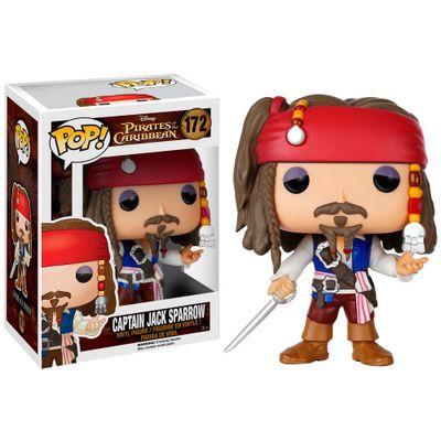 Figura Colecionável - Funko POP - Piratas do Caribe - Capitão Jack Sparrow - Funko