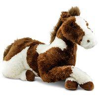 Pelucia-95-CM---Bicho-Mundi---Cavalo-Grande---Marrom-e-Branco---DTC