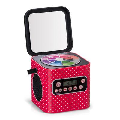 Caixa de Som com Maquiagem - My Style Beauty Box - Bolinhas - Multikids