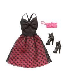 Roupinha-para-Bonecas-Barbie---Vestido-de-Gala-Preto-e-Vermelho---Mattel