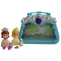 Playset-e-Boneca---7-CM---Disney---Princesinha-Sofia---Bolsa-Cenario-Azul---Sunny
