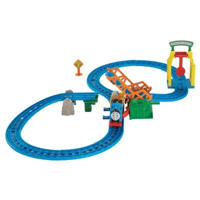 Ferrovia Thomas e Friends - Thomas Motorizado - Ferrovia Ponte Levadiça - Fisher-Price