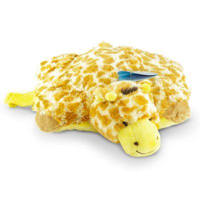 Pelúcia - Pillow Pets de Chão - Animais Coloridos - Girafa - DTC