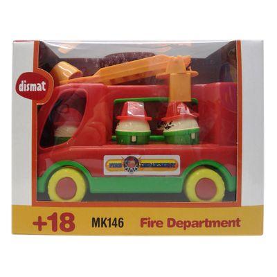 Caminhão de Bombeiros com 6 Peças - Verde - Dismat