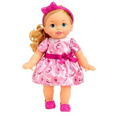 Boneca Bebê - My Little Mommy - Doce Bebê - Vestido com Rosas - Mattel
