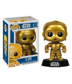 Figura-Colecionavel---Funko-POP---Disney---Star-Wars---C3P0---Funko
