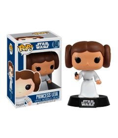 Figura-Colecionavel---Funko-POP---Disney---Star-Wars---Princesa-Leia---Funko