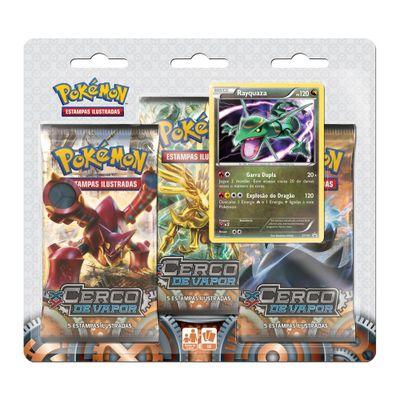 Deck Pokémon - Blister com 3 Unidades - XY11 - Cerco de Vapor - Rayquaza - Copag