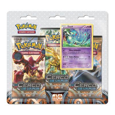 Deck Pokémon - Blister com 3 Unidades - XY11 - Cerco de Vapor - Azelf - Copag